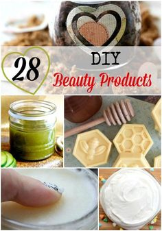 We're all looking for natural products for our home and body. Why not make your own DIY beauty products? We've found 28 great items that you can make now!