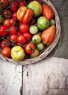 tomatoes and all their glory    http://www.whatkatieate.blogspot.com
