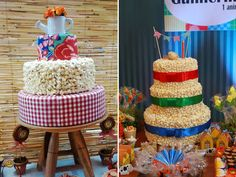 bolo fake de pipoca - 10 Ideias Criativas para Decorar sua Festa Junina.
