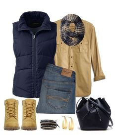"""""""Untitled #1166"""" by gallant81 ❤ liked on Polyvore featuring Madewell, Lands' End, Abercrombie & Fitch, Timberland, Lacoste, Michael Stars, Lana and Chan Luu"""