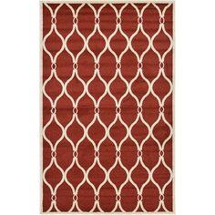 Unique Loom Trellis Red Area Rug Rug Size:
