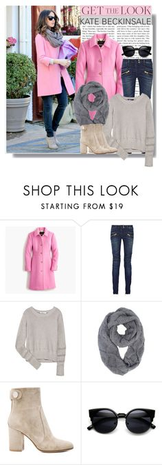 """""""Celebrity - Kate Beckinsale"""" by drigomes ❤ liked on Polyvore featuring J.Crew, Balmain, T By Alexander Wang, Gianvito Rossi, women's clothing, women, female, woman, misses and juniors"""