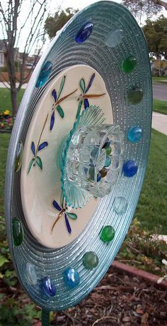Glass Garden Plate Flower.