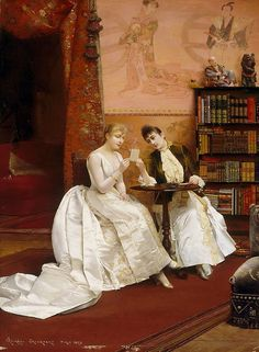 Confidences, (1889) by Georges Croegaert :: The Collection :: Art Gallery NSW