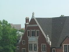 Architectural Sculpture/Statue atop Windsor Hall via the view from Third Street Suites