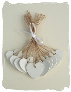 Wooden wedding placename tags... www.bynicki.co.uk