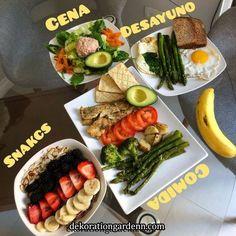 Me gusta, 184 comentarios - Nutriólogo Girón ( en Inst. Fitness Meal Prep, Healthy Meal Prep, Healthy Snacks, Healthy Eating, Healthy Recipes, Healthy Life, Keto Recipes, Health Fitness, Comida Diy