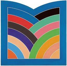 Bright Geometric Nursery Art Inspiration a la Frank Stella Hard Edge Painting, Action Painting, Work In New York, New York Art, Frank Stella Art, Famous Abstract Artists, York Art Gallery, Post Painterly Abstraction, Abstract Geometric Art