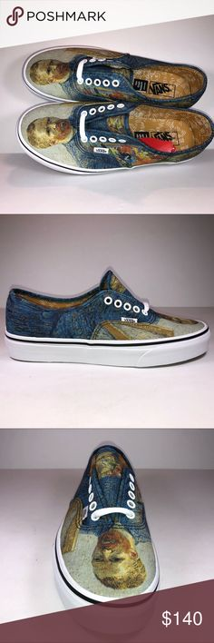 Vans Authentic Vincent van Gogh Self Portrait Shoe New With Box See  Pictures For Details. abccf9869f1c
