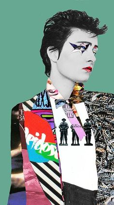 Vivienne Westwood inside Seditionaries showing off her designs to Derek Nimmo.
