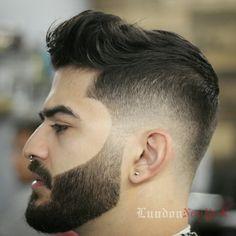 Drop fade and Faded beard