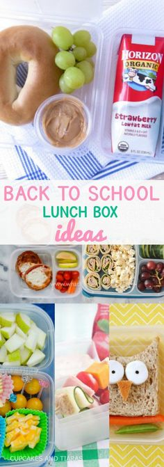 BACK TO SCHOOL LUNCH IDEAS.  Easy, fun and healthy lunch box ideas to keep the kiddies feeling energized and happy day long.
