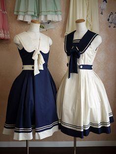 Vintage Sailor Dress by strawberrykoi | Strawberry Koi | Pinterest ...