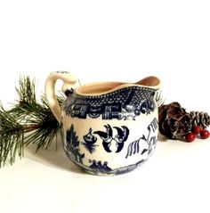 Vintage Blue Willow Creamer, Made in Japan, Old Pattern 1920s-1940s ** Epsteam by happenstanceNwhimsy on Etsy