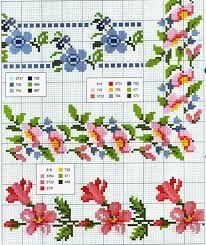 cross stitch free patterns roses ile ilgili görsel sonucu