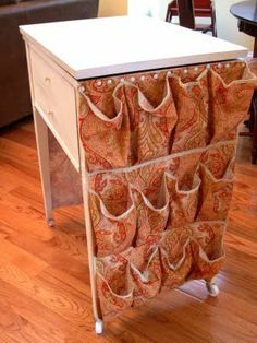 1000 images about basement sewing room on pinterest for Rolling craft table with storage