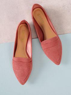 fd9398952d1 Shop Faux Suede Pointy Toe Flats online. SheIn offers Faux Suede Pointy Toe  Flats