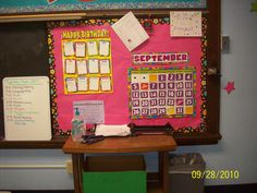 Calendar/Birthday bulletin board
