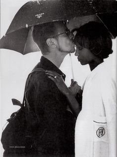 Bruce Weber, Portrait of David Bowie and Iman, South Africa, 1995