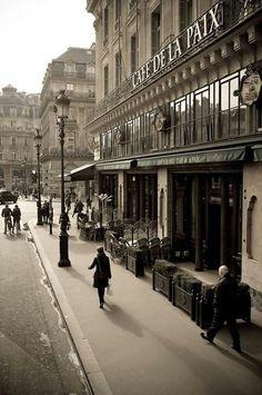 Café de la Paix, 12 Boulevard des Capucines, Paris IX by Netanya Rommel Beautiful Paris, I Love Paris, Old Paris, Vintage Paris, Paris Cafe, Paris Street, Paris Travel, France Travel, Paris France