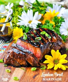 Turn this affordable steak into a tender, juicy, and flavorful piece of meat with a simple 5-minute London Broil Marinade!