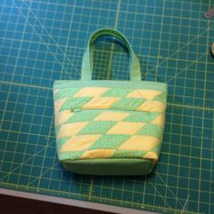 Quilted, insulated lunch tote.  I made this one for my sister.