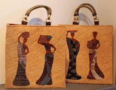 Disse Afrikanske kvinder er syet af min veninde Lotte Watson i efteråret 2017. Tasken er Lottes eget design.