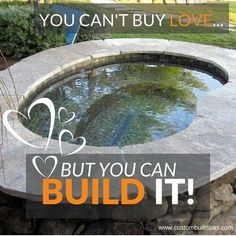 This Valentines Day show your love and promise to build your special someone a hot tub. Custom Built Spas can show you how! # valentine's day, #diyhottub, #custombuiltspas