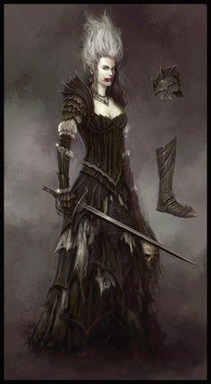 "Vampire NPC from ""Warhammer Online: Age of Reckoning"" by daarken"