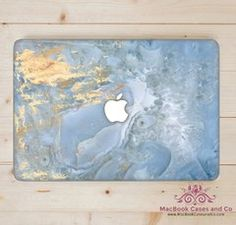 Sea blue Marble. MacBook Case. Marble Macbook case.