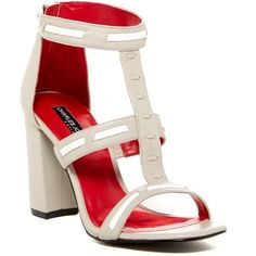 Charles Jourdan Brea T-Strap Sandal ($90) ❤ liked on Polyvore featuring shoes, sandals, greyleathe, t strap shoes, woven sandals, strappy sandals, leather t strap sandals and braided leather sandals