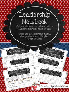 Leadership Notebook (U.S.A Theme)
