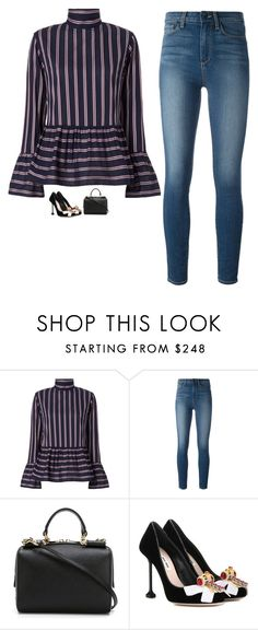 """Untitled #1408"" by yimikuskus ❤ liked on Polyvore featuring Le Sarte Pettegole, Paige Denim, Dolce&Gabbana and Miu Miu"