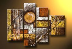 Cuadros Abstractos Modernos En Acrilico  Texturados-relieves - $ 1.699,99