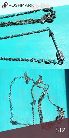 Boho Head Chains (Set of 2) Set of two head chains. One has three turquoise stones and a silver arrow. One has set of leaves. Cute and on trend for summer! Any questions just ask :) Accessories