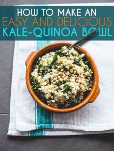 How To Make A Delicious Kale-Quinoa Bowl In 20 Minutes (via BuzzFeed)