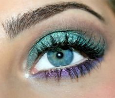 Teal and purple eye makeup inspiration
