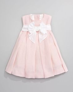 Helena Linen Pleated Dress