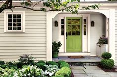 March is the time of plant shoots emerging from their wintry rest beneath the soil. New growth emerges as trees show their first buds. Nature transforms out of its dull, drab neutrals into energetic, vibrant greens, which is why we've chosen Fresh Apple P360-6 as Behr's, March, color of the month. An exterior door decked …