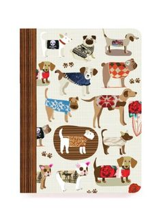 """JOURNALS :: PERFECT BOUND :: 6x8"""" perfect bound :: Dog Sweaters perfect bound - Ecojot - eco savvy paper products"""