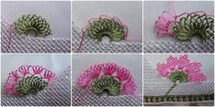 Havlu Kenarı Çiçek Oyası Yapılışı