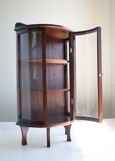 wood glass display cases for collectibles | ... wood curio DISPLAY ...