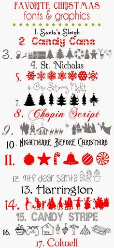 Lyn's Needlecase: Free Christmas fonts