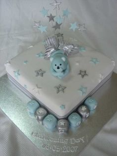 christening cakes for boys