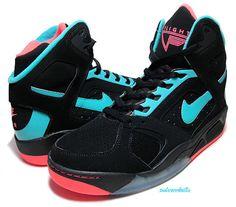 newest 5342f 93441 Men Shoes Nike Air Flight Lite Basketball High Black HYPER Jade Punch Sz 10  for sale online   eBay