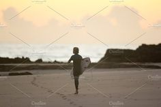 Young surfer surfing at sunrise/dawn by elyse.lu on @creativemarket - available for purchase!! Gold Coast, One Light, Dawn, Sunrise, Surfing, Australia, Creative, Surf, Surfs