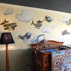 An airplane nursery is a fun nursery theme for a baby boys room. An airplane themed nursery can be as colorful or as neutral as you want. You...