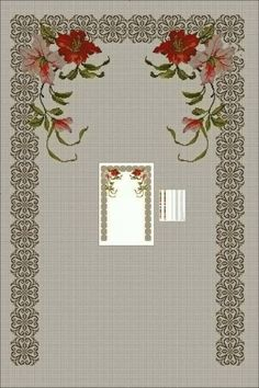 This Pin was discovered by Hül Cross Stitch Embroidery, Hand Embroidery, Cross Stitch Patterns, Prayer Rug, Ribbon Work, Yarn Shop, Cross Stitch Flowers, Easy Crochet Patterns, Vintage Patterns