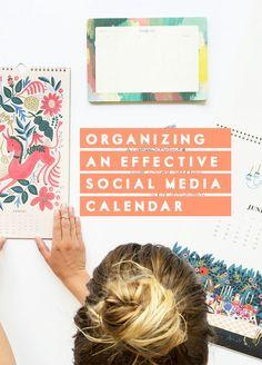 Organizing a Social Media Calendar