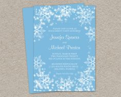 Printable Winter Engagement Invitation by iDesignStationery, $9.95